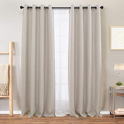 Amazon Com Vangao Room Darkening Curtains For Living Room Grommet