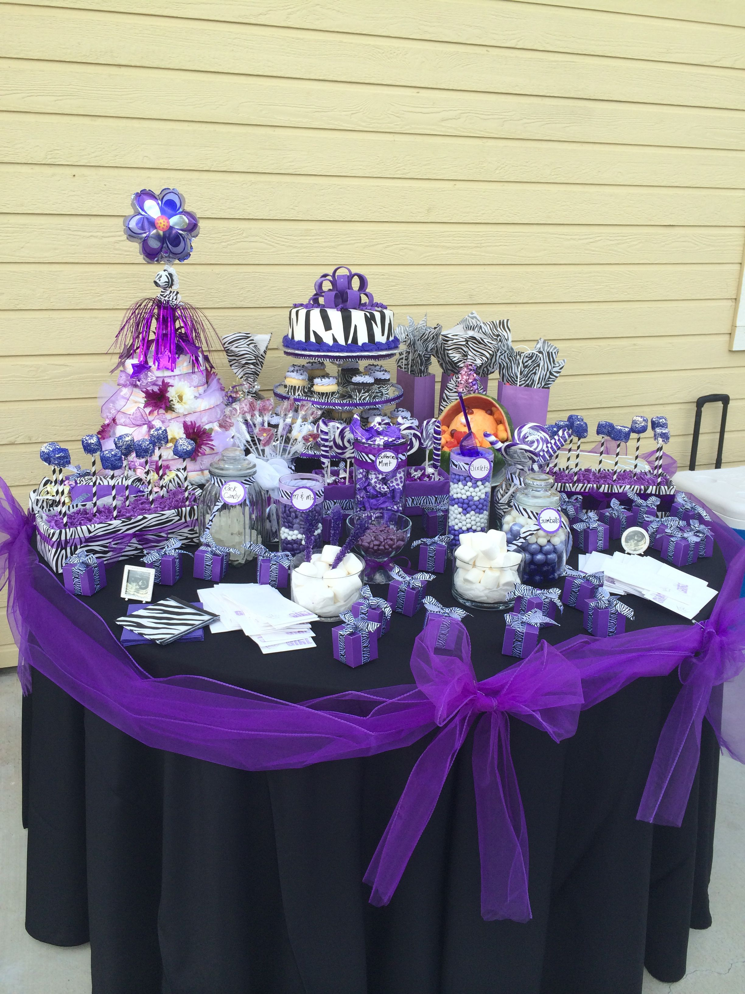 Purple Zebra Baby Shower Decorations  from i.pinimg.com