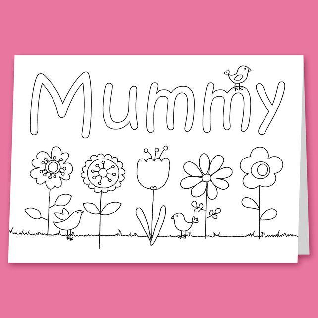 Colour Your Own Birthday Or Mother S Day Card For Mummy Mum Nana Or Grandma Grandma Birthday Card Cool Birthday Cards Birthday Cards For Mum