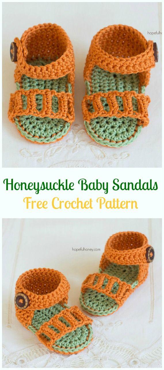 Crochet Honeysuckle Baby Sandals Free Pattern-Crochet Baby Sandals ...