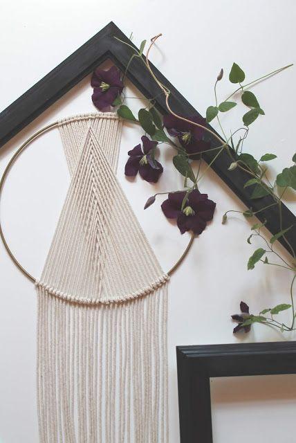 DIY Geometrisches Makramee / Traumfänger