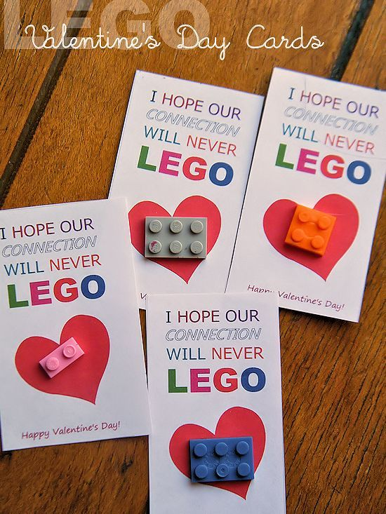 I hope our connection will never LEGO with this fun sweet and – Valentine Cards for Kindergarten
