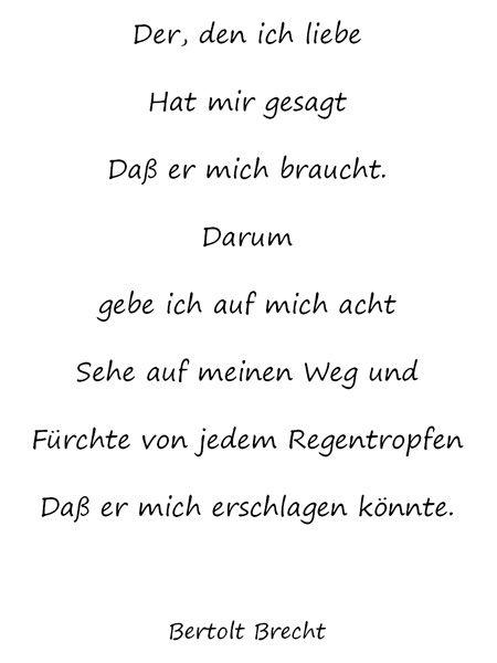 Bertolt Brecht Words Worte Zitate Song Zitate Liebe Und