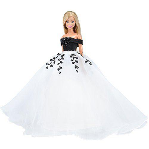 Fashion handmake Wedding Dress Fashion Clothing Gown For  doll FP