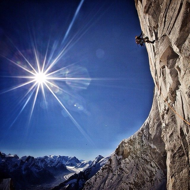 Photo by @jimmy_chin If you like suffering, you'll like Himalayan big wall climbing w @conradclimber. Spending weeks on overhanging rock at 20,000ft requires a certain taste for discomfort....but the views are unbeatable. Shot during the first ascent of #thesharksfin #meru #garwhal #himalaya @thephotosociety