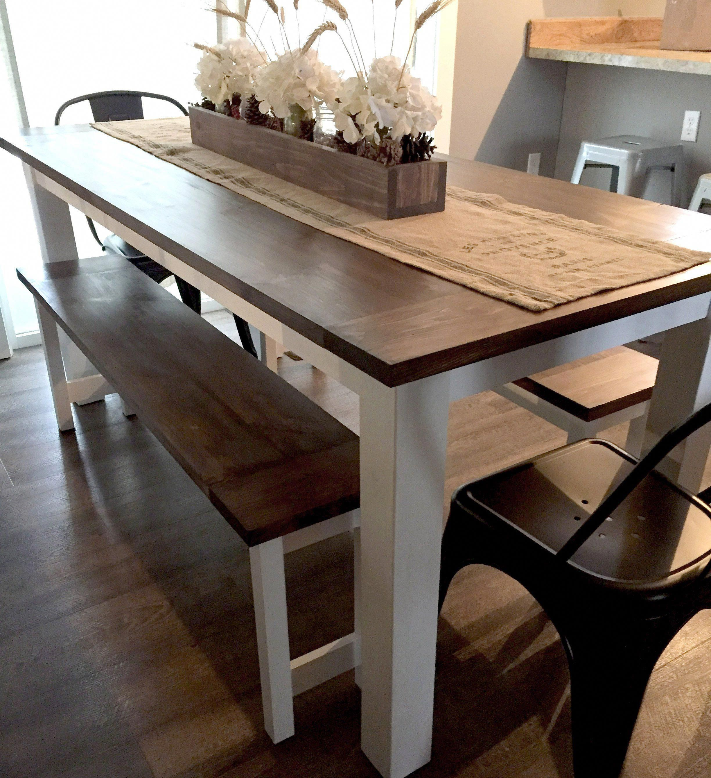 diy farmhouse table plans with benches woodworking plans etsy diyfurniturebench in 2020 diy on farmhouse kitchen table diy id=14533