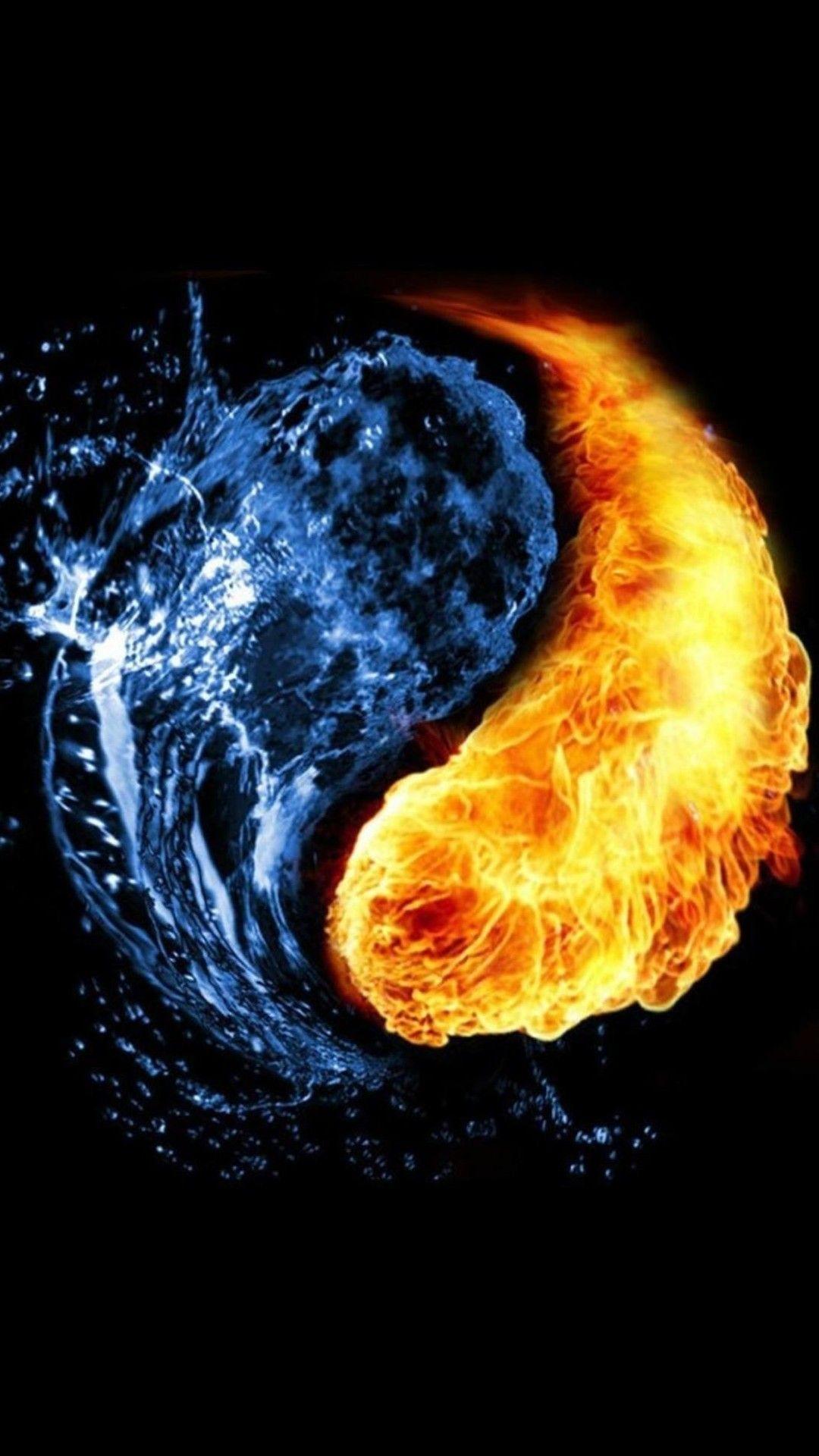 Yin yang iphone wallpaper - Fire Water Yin Yang You And Me