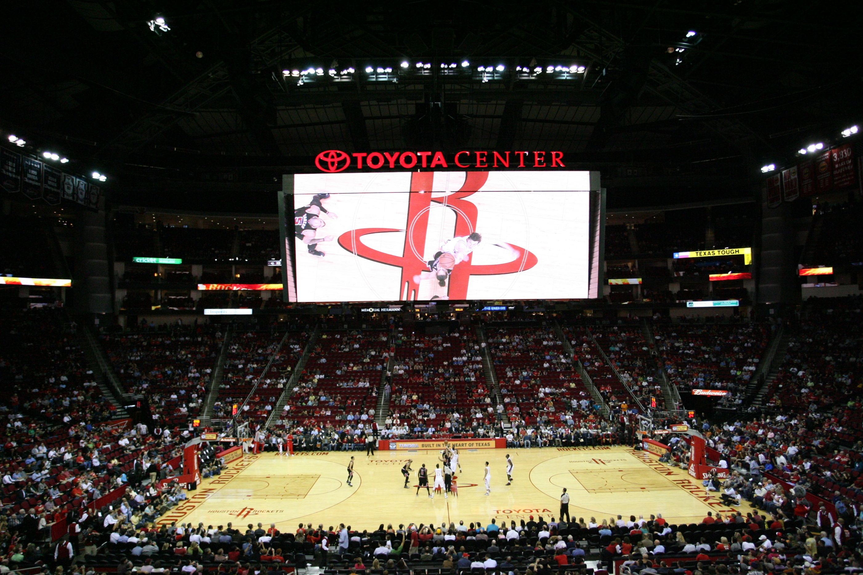 hanging houston concourse rockets journey in banners center stadiums toyota stadium