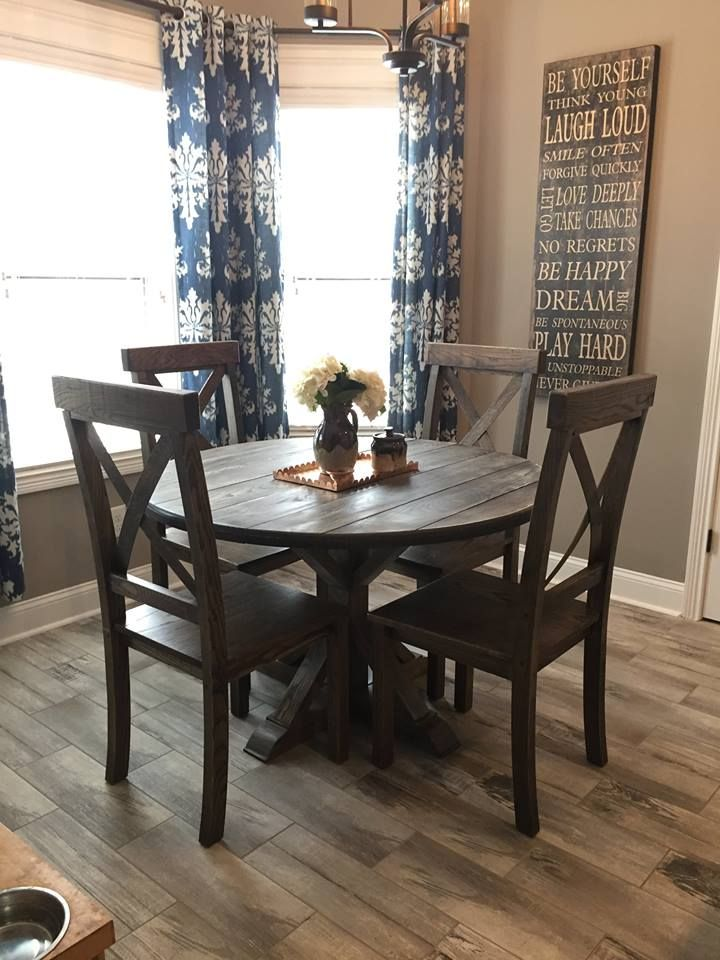 Custom Round Ash Wood Farm Dining Table