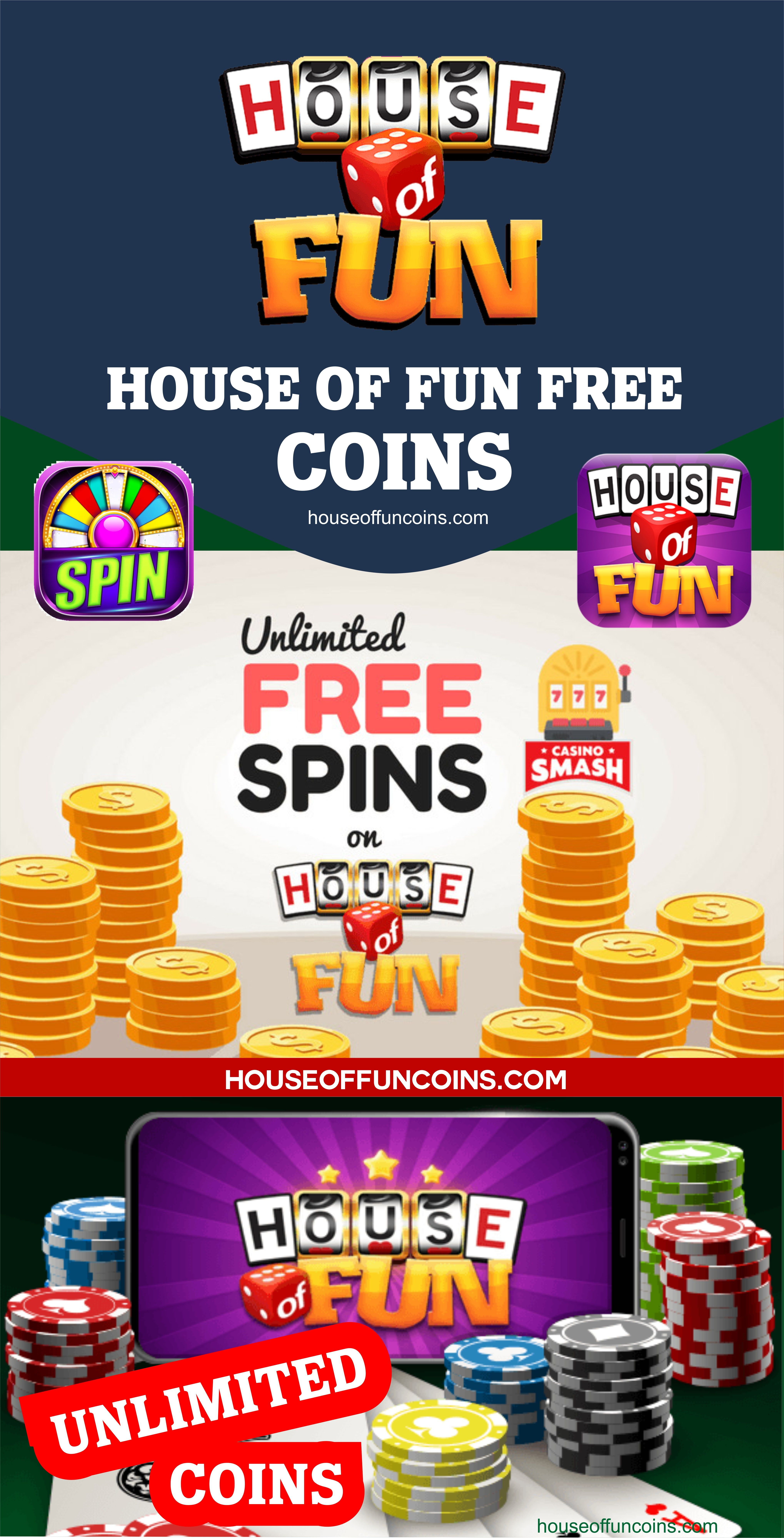 Free Coins House Of Fun Slot Freebies : coins, house, freebies, House, Coins, Spins, Slots, Coins,, Games