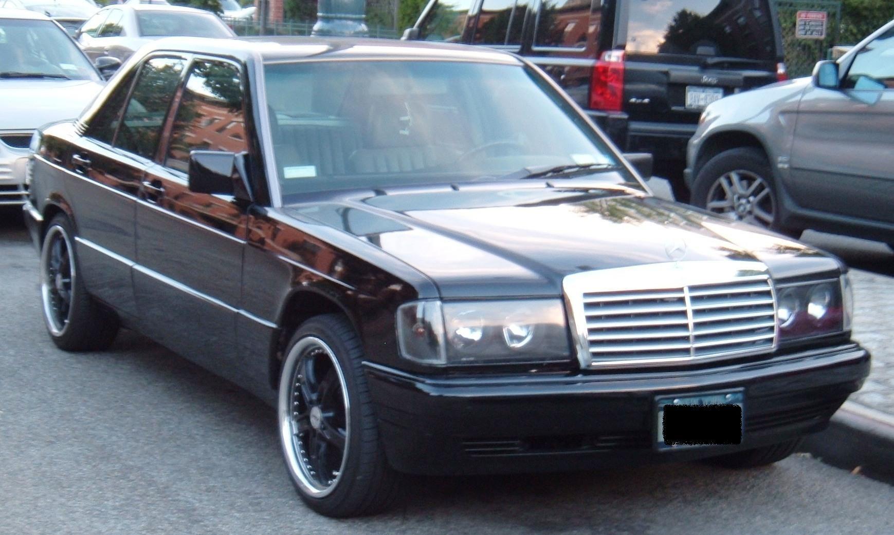 "91 Mercedes Benz 190E ""Murdered Out"""