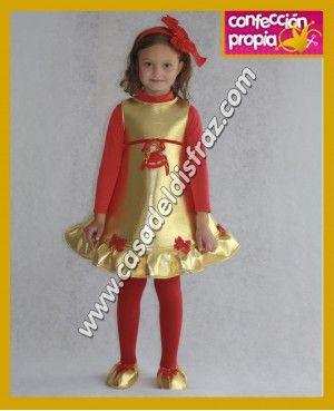 Disfraz de campana dorada para ni a disfraces navidad - Disfraces navidenos para ninas ...