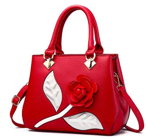 Crossbody Tote Leather Floral Applique Luxury Handbag Crossbody Adjustable Strap Women Handbags Fashion Handbags Womens Fashion Handbags