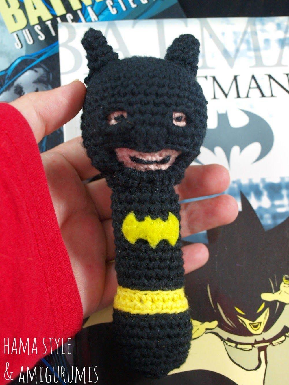 Hama Style & Amigurumis: Sonajero Batman - [PATRÓN GRATIS]