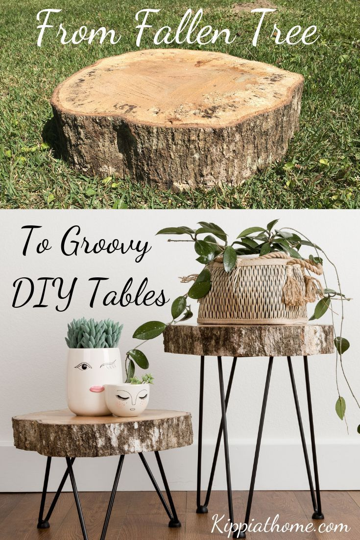 Simple DIY Live Edge tables with hairpin legs Step by step instructions  Simple DIY Live Edge tables with hairpin legs Step by step instructions