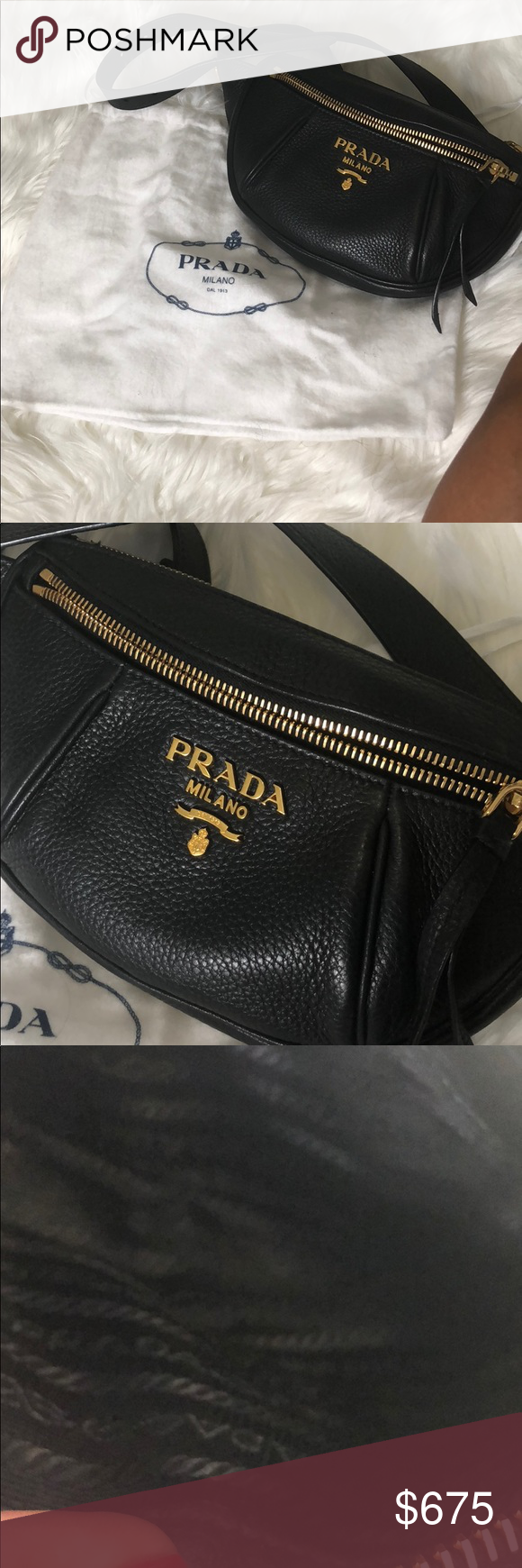 82e5d2299fea Prada Daino Belt Bag Fanny pack Gently worn! No visible wear marks Fits belt  size 24-32 2018 Summer release Bag included as seen 100% AUTHENTIC..card ...