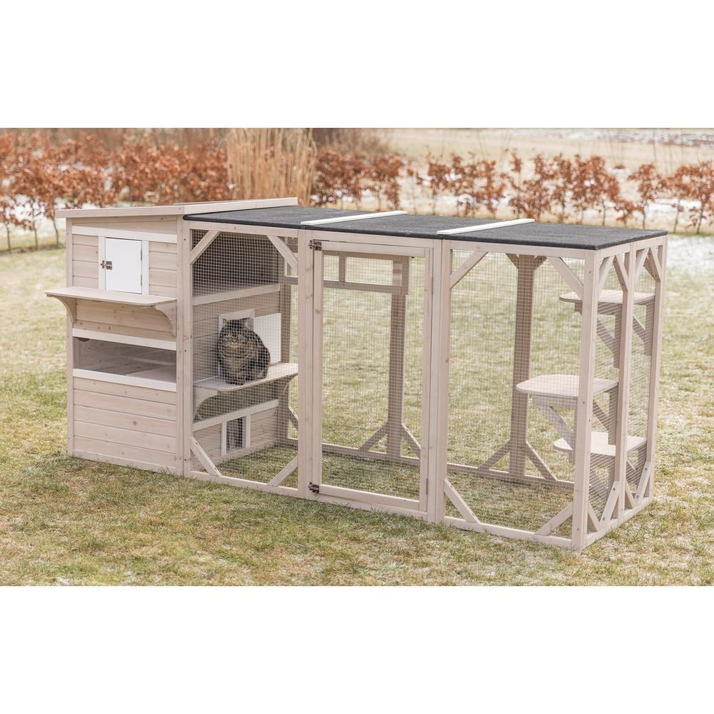 Trixie Natura Xxl Cat S Home 44112 The Home Depot Outdoor Cat Enclosure Outdoor Cat House Cat Patio