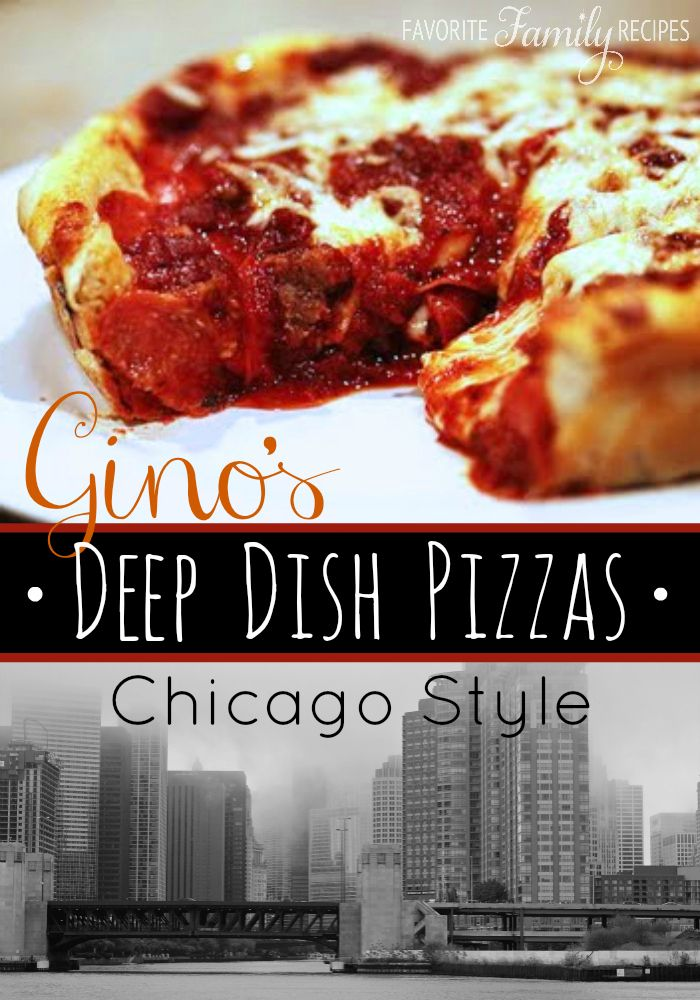 Our version of Chicago's Gino's East Deep Dish Pizza is an amazing knock off of the original! A deep dish with cheese on the bottom and sauce over the top! #deepdishpizza #ginospizza