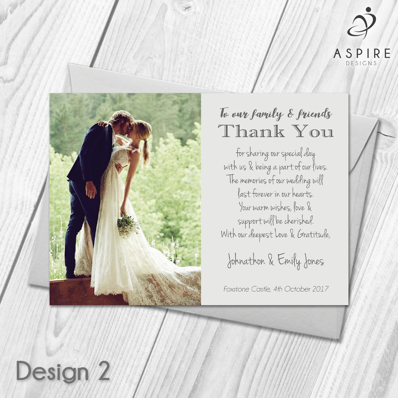 Personalised Wedding Day Thank You