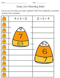 Go Fourth And Inspire Candy Corn Multiplication And Division Multiplication And Division Holiday Math Multiplication