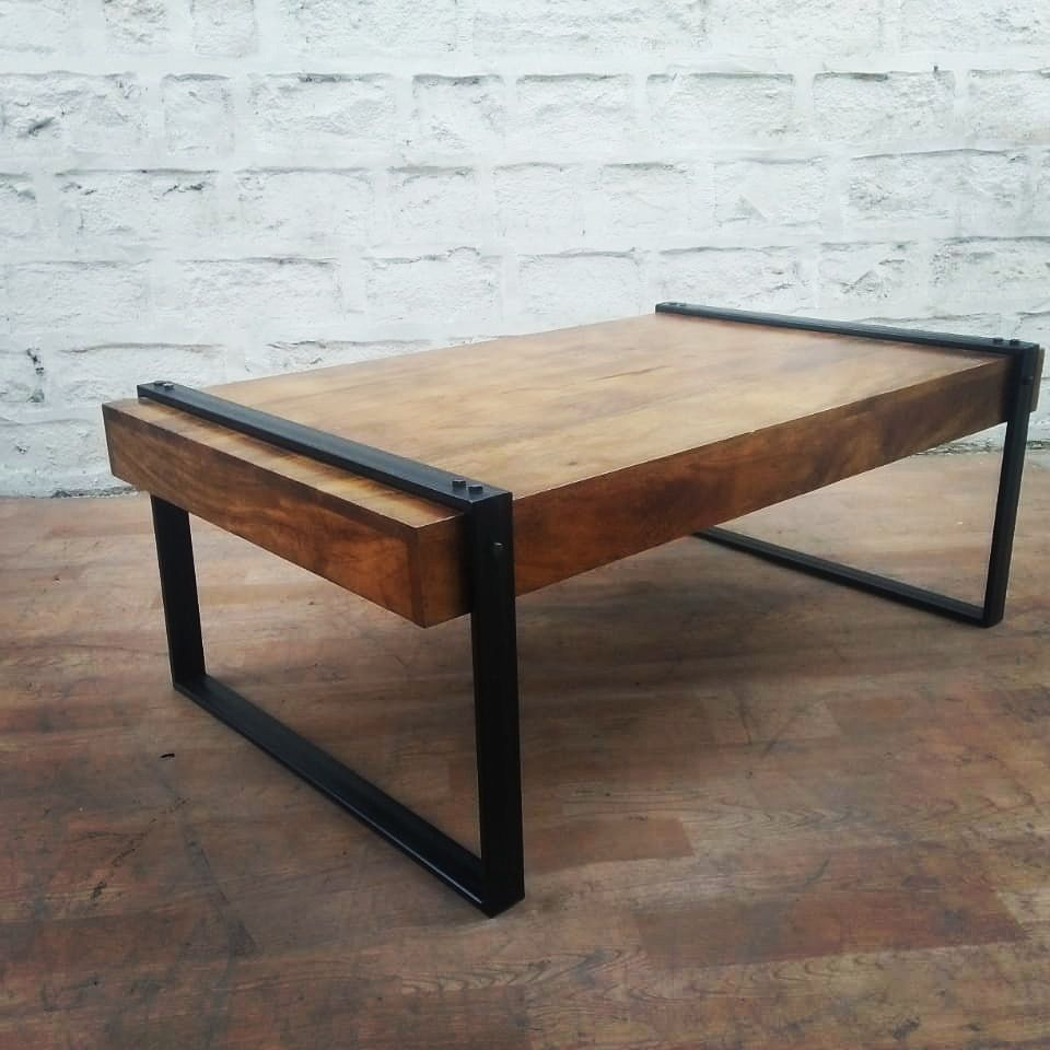 Acumencollection Industrial Rustic Mango Wood Sleeper Style
