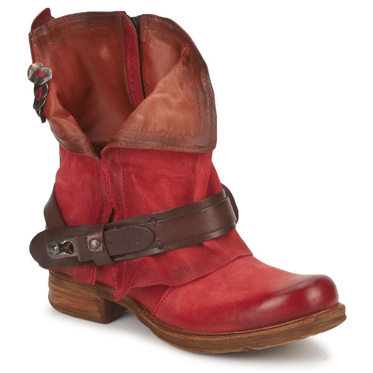 b57d4ca66392b Bota baja Air Step SAINT BIKE Rojo - Entrega gratuita con Spartoo.es ! -  Zapatos Mujer 199