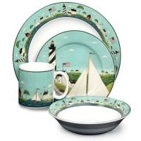 warren kimble dinnerware | Warren Kimble Coastal Breeze 16 Piece Dinnerware Set  sc 1 st  Pinterest : warren kimble dinnerware - Pezcame.Com