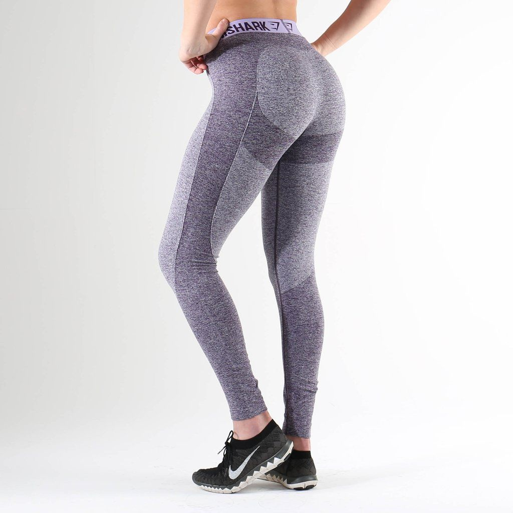 gymshark flex leggings rich purple marl soft lilac. Black Bedroom Furniture Sets. Home Design Ideas
