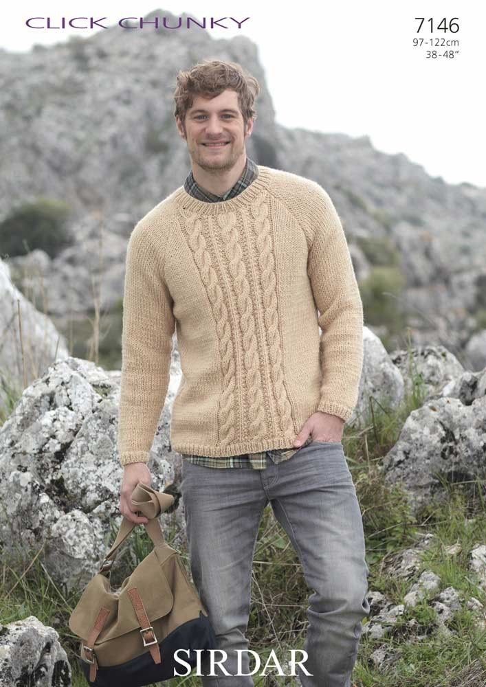 Mens Sweater knitted in Sirdar Click Chunky | Knit Patterns ...