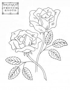 Roses Embroidery Patterns Patrones De Bordado Bordados Florales Patrones