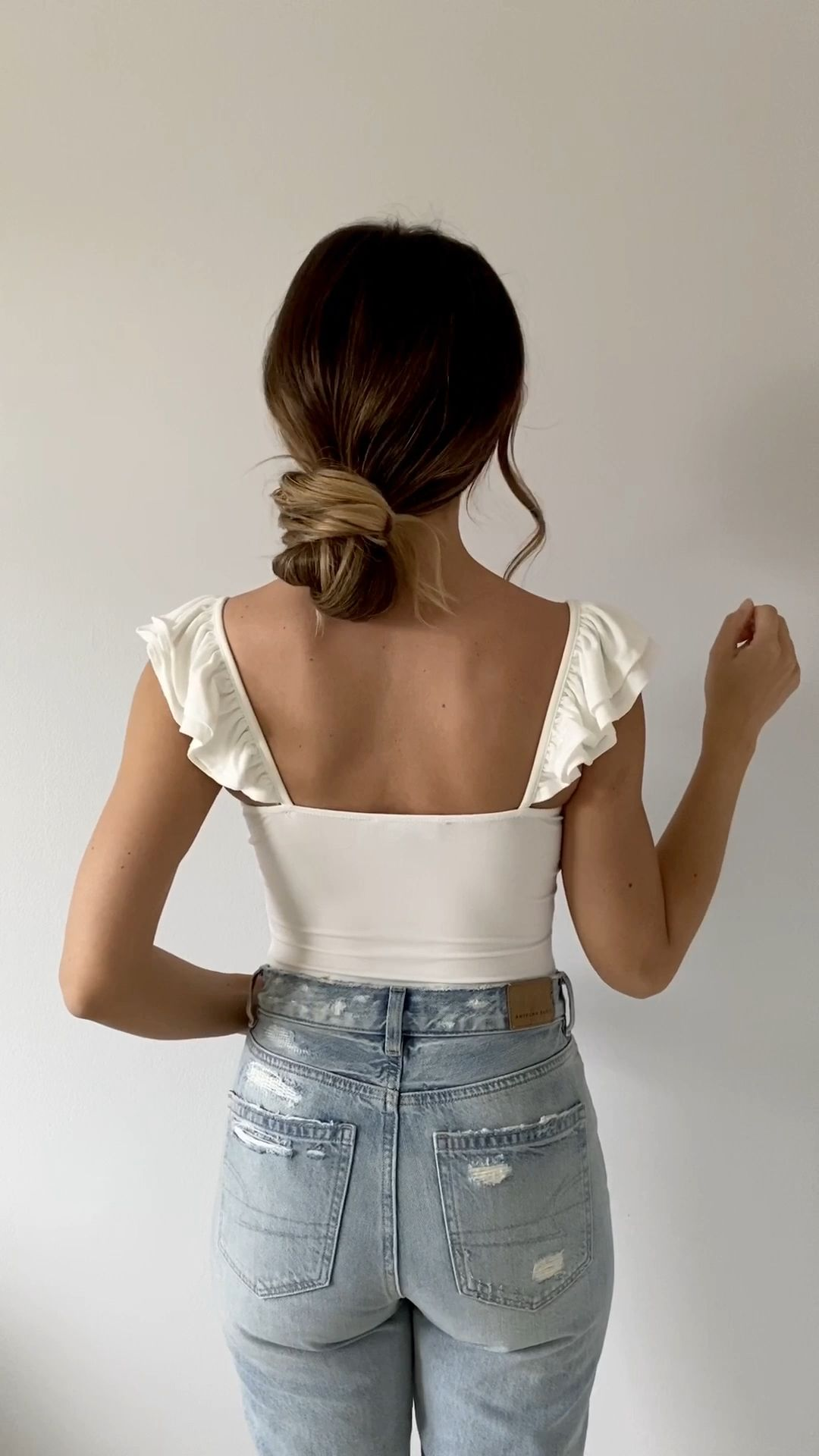 Easy Low Messy Bun Tutorial with Luxy Hair Extensions