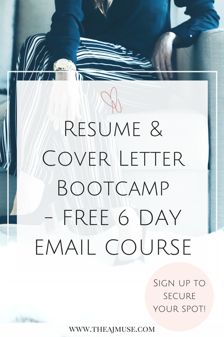 Create Cover Letter Free Resume & Cover Letter Bootcamp  A Free 6 Day Email Course That Will .