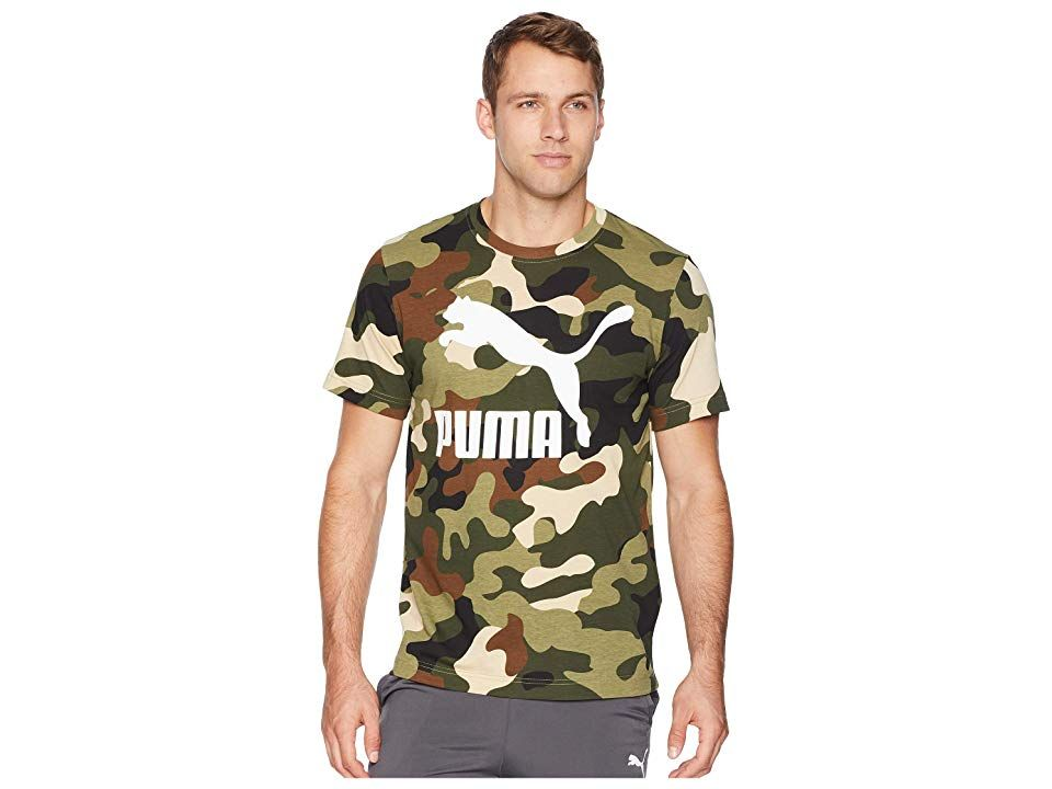 3a4436a84e1 PUMA Wild Pack Tee AOP (Forest Night) Men s T Shirt. Lead the pack ...