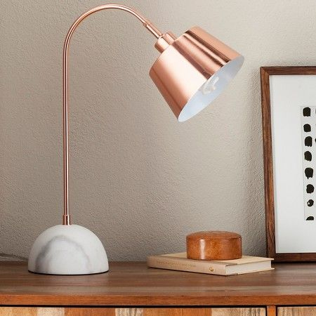 Threshold™ Copper Task Lamp With White Marble Base (includes CFL Bulb) :  Target