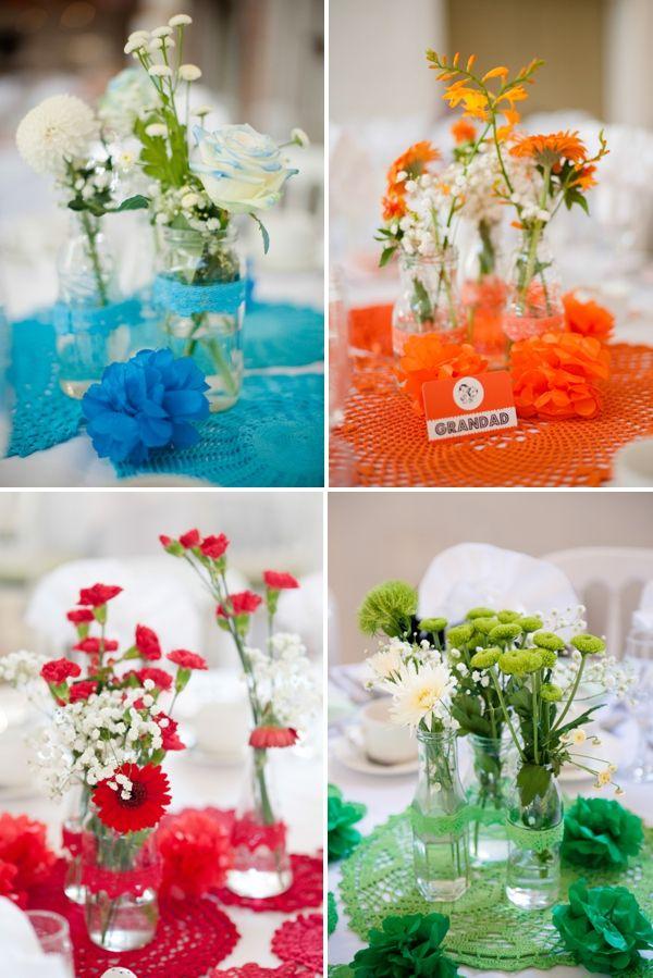 Quirky Kitsch Colourful Wedding Pinterest Wedding Centerpieces