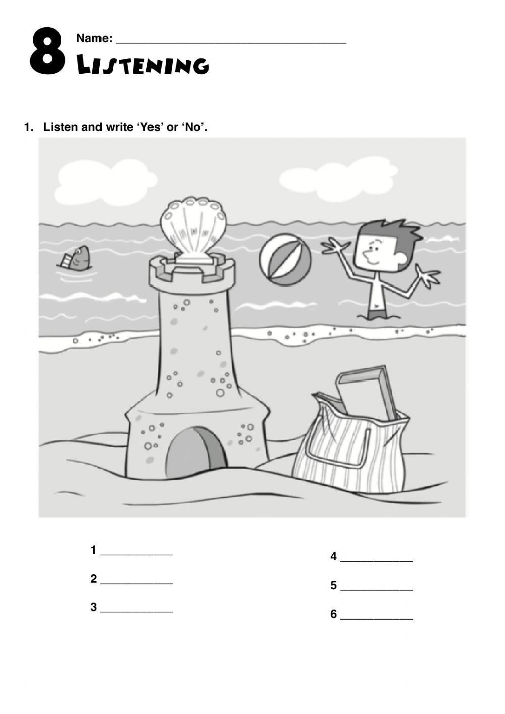 At The Beach Interactive Worksheet Summer Vocabulary English As A Second Language Esl English As A Second Language [ 1413 x 1000 Pixel ]