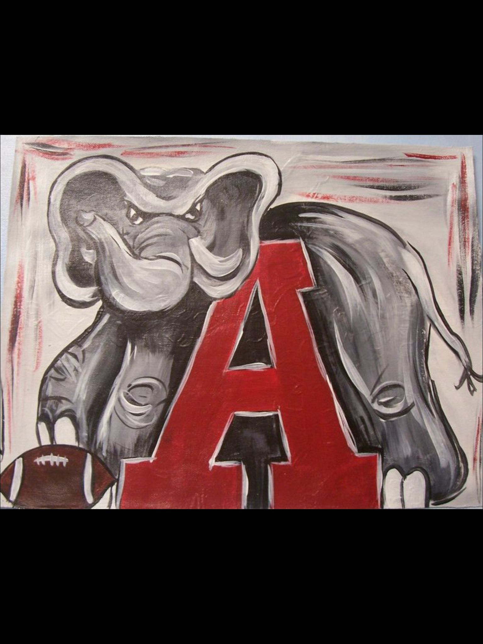 Alabama Elephant Canvas Painting Painting Paint Party