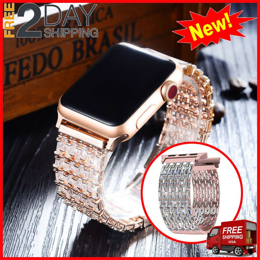 Compatible Apple Watch Band 38mm Series 3 2 1 Cubic Zircon Replacement Strap Ebay Applewatchbands 38mm Apple Watch Band Apple Watch Bands Smartwatch Women