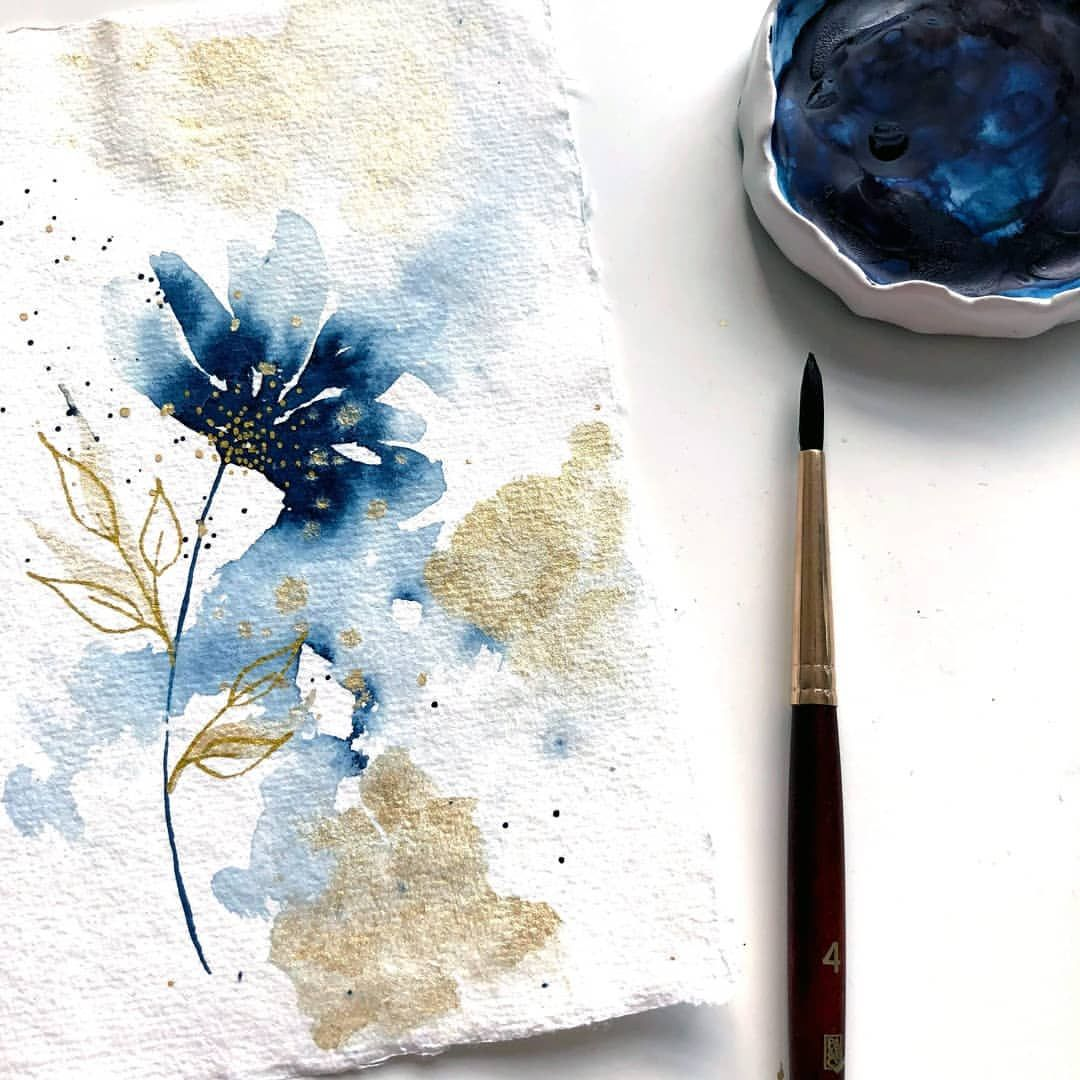 Cristina Chivu V Instagram Happy New Year My Loves I Am Back Online After A 3 Week Holiday In 2021 Watercolor Illustration Watercolor Background Abstract Watercolor