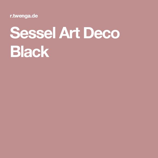 Sessel Art Deco Black