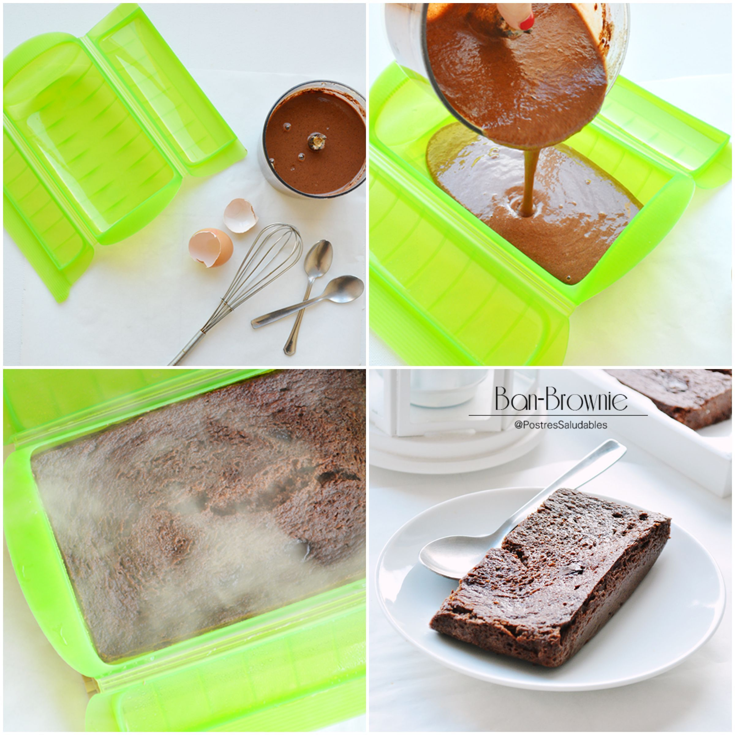 Postres saludables brownie de banano saludable en 10 for Comidas hechas en microondas