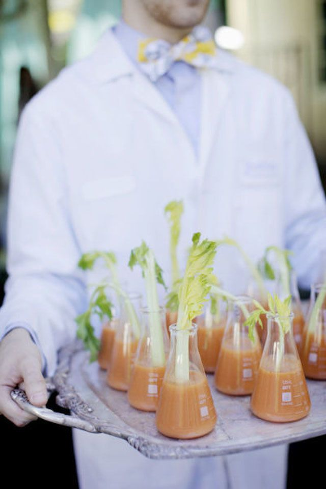 from the lab to your wedding? science inspired flasks drinks