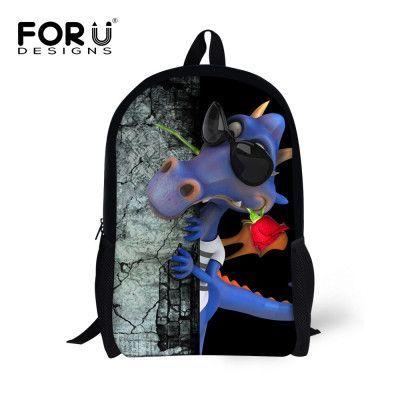 085a5c6065c ... Preschool Backpack watch  16inch Printing Cute Frog Dinosaur Backpack  for Teenage Girls Boys Cool Animal School Backpacks Student Kids  Aramox 3D  ...