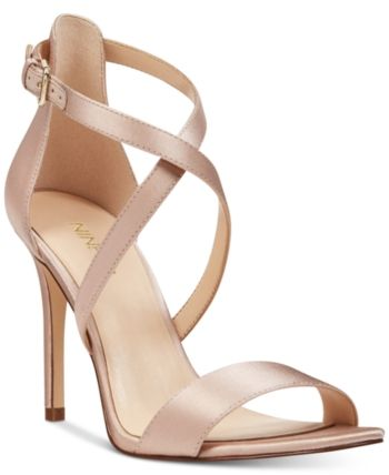 e044b2d14fab Nine West Mydebut Evening Sandals - Tan Beige 5.5M
