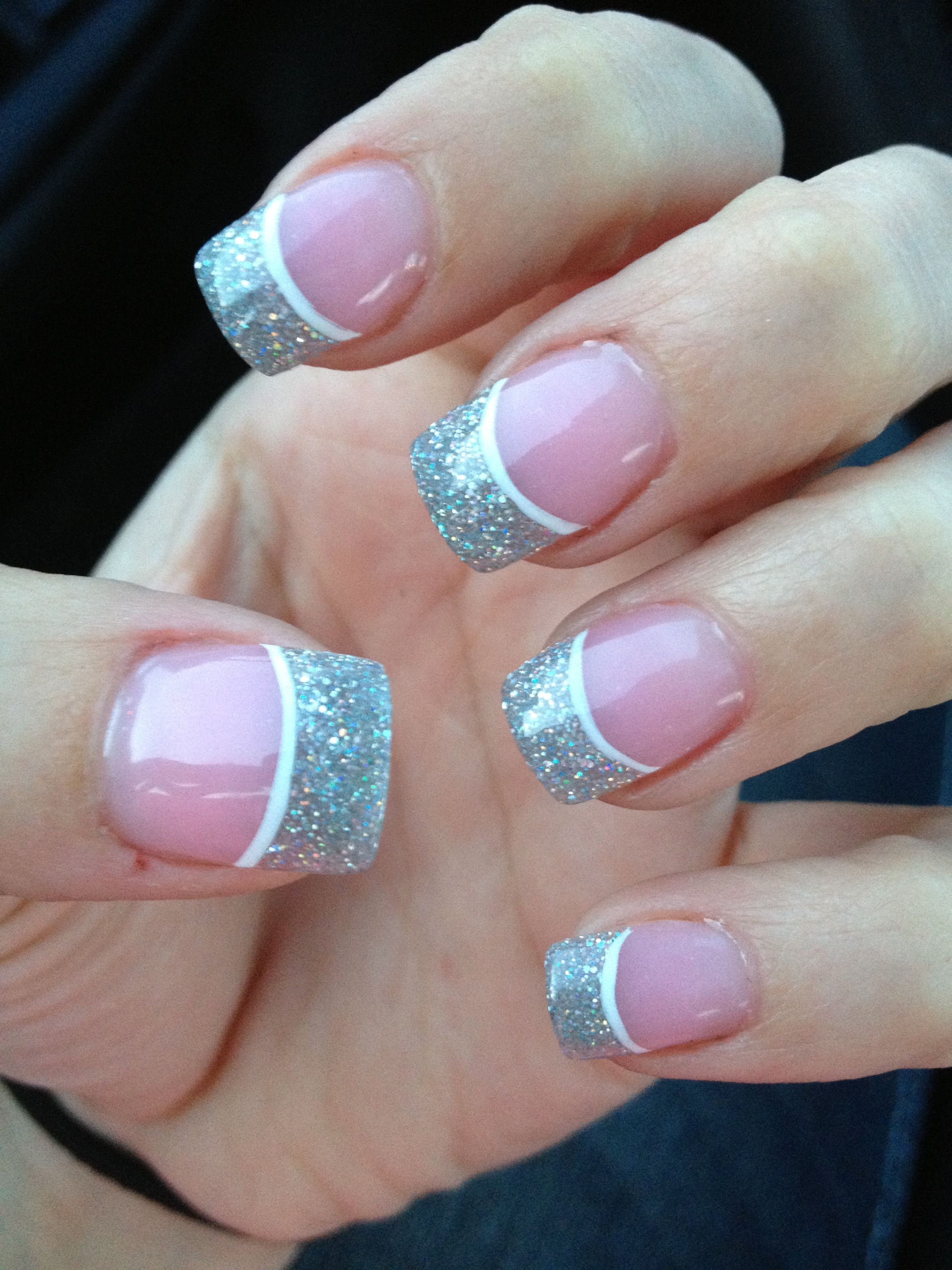 silver and white prom nails!   Nails.   Pinterest   Prom nails, Prom ...