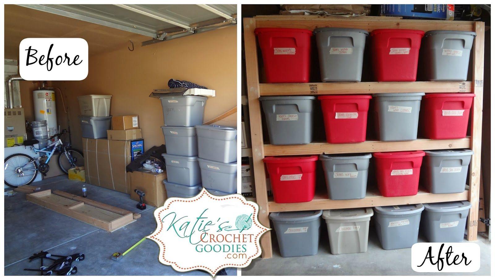 DIY Storage Shelves Tutorial Basement storage shelves