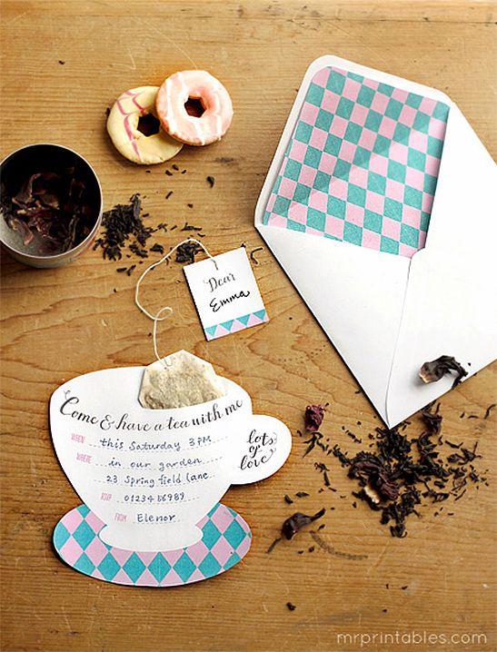 Printable Tea Party Invitations Mr Printables