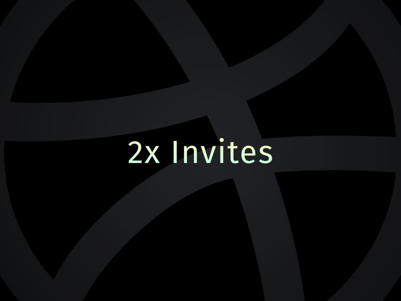 2x dribbble Invite by Artyom Khamitov🐉