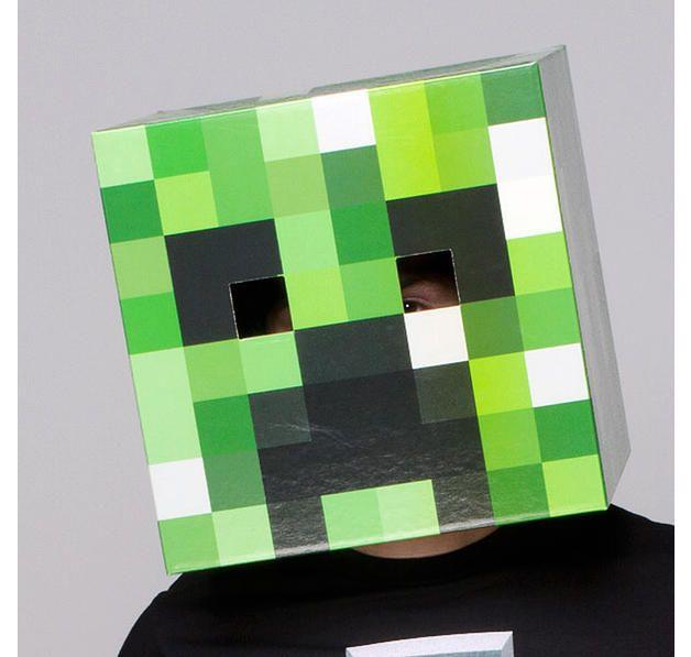 minecraft maske creeper kopf kost mideen halloween