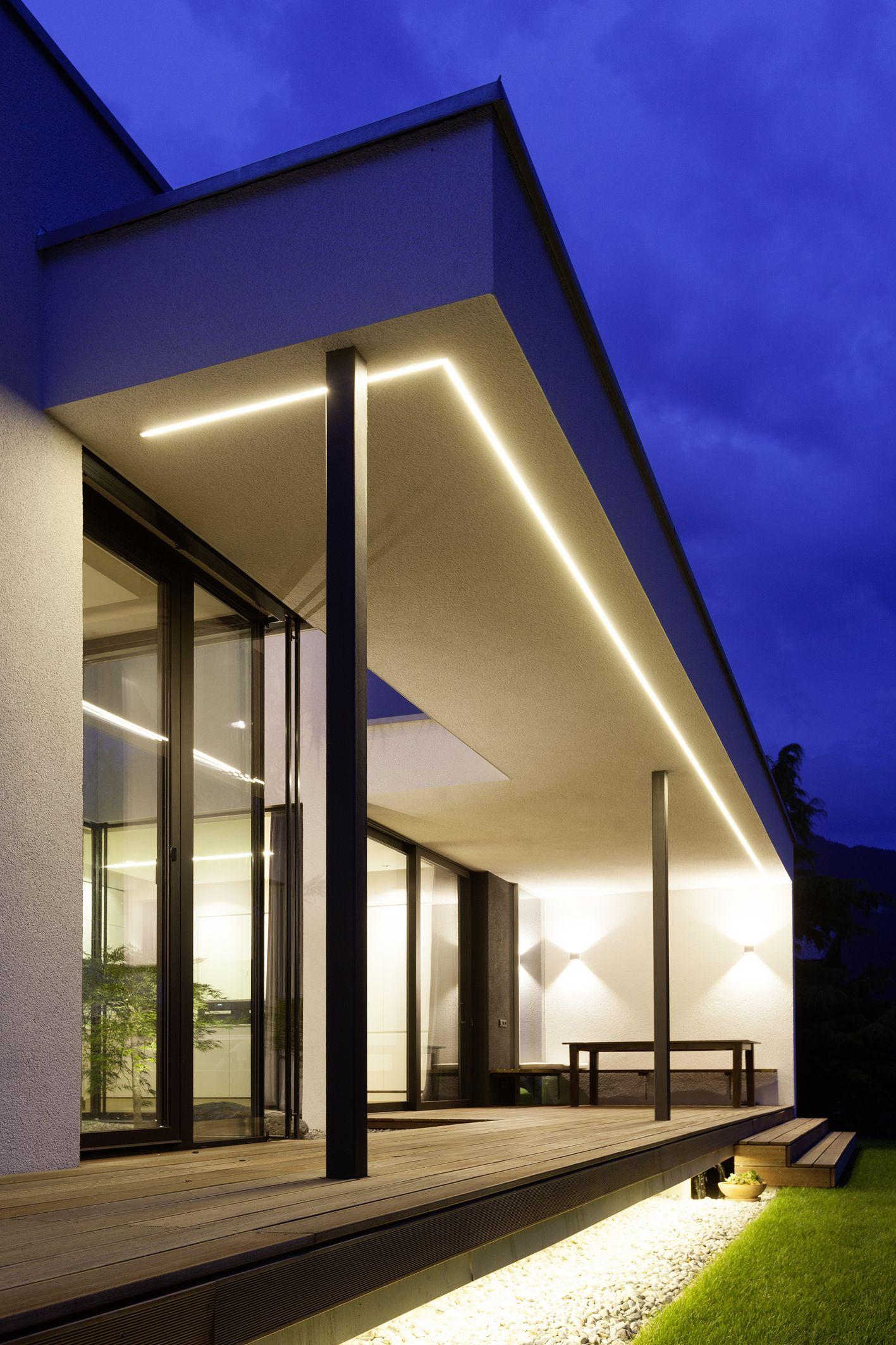 Terrassenuberdachung Mit Led Beleuchtung Haus In Telfs 2 Haus